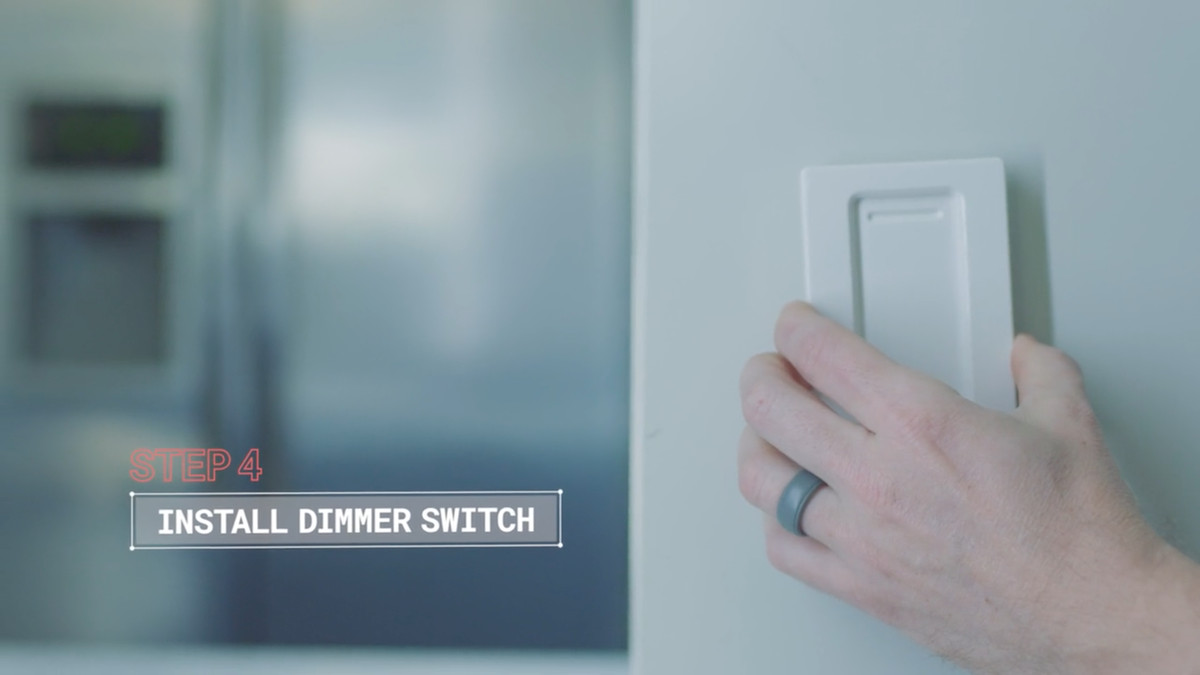 How To Automate Lights With Philips Hue And Amazon Alexa Curbed 2006 F150 Wiring Diagram Dimmer This Switch Mounts Onto Your Wall Adhesive Looks Like A Normal Light But Its Also Magnetic So You Can Remove It Carry