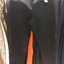 Leather detail pants, size 14, $25