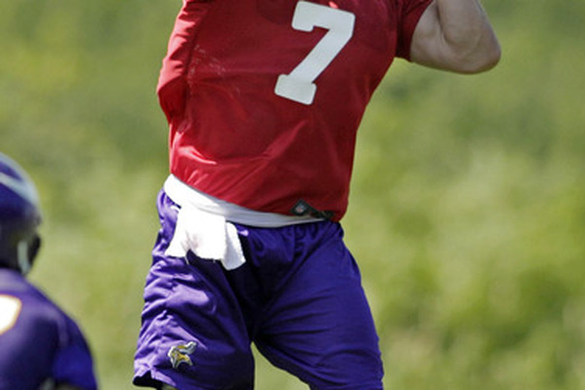 NOT PICTURED: Christian Ponder's shoes, because apparently he already has some big ones to fill.