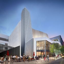 A rendering of the new north exit in the Steppenwolf renovation. | Adrian Smith + Gordon Gill (provided)