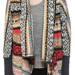 Moi Boutique - Multi Stripe Pattern Detail Sweater ($59)