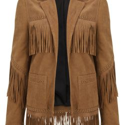 Suede Fringe Jacket, $420