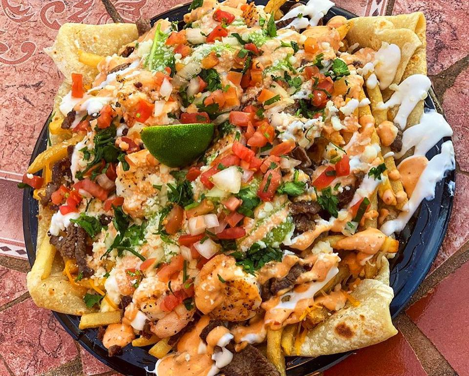 One of the popular casual Mexican dishes served daily at Taco Man Grill.