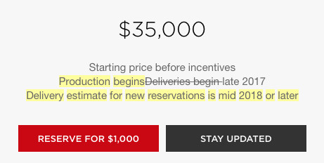 2018 tesla changes. interesting 2018 a new line was also added addressing when reservations will arrive u2014   and 2018 tesla changes