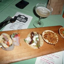 Tim Goodell from Public Kitchen + Bar (Spotted Poland China pig - Hopkins Hog Farm)<br /><br />-Tasting of Dim Sum: pork and ginger soup dumpling, Vietnamese spring roll with lup cheong, banh mi with pork liver pate and mortadella and pork belly<br />- Pi