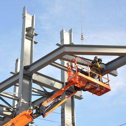 Jumbotron structure work -