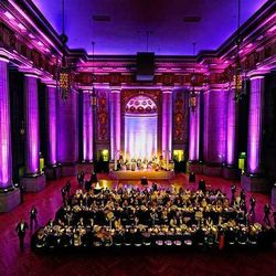 """<b>Andrew W. Mellon Auditorium,</b> <em>Washington, D.C.:</em> This <a href=""""http://mellonauditorium.com/rental-fees-2/"""">historic auditorium</a> is so stunning it barely needs decor, with bold features like colossal fluted Roman Doric columns. [<a href=""""h"""