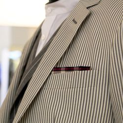 """While having a quality shirt is important, you can't neglect accessories like ties and pocket squares. """"I wish guys were a little bit more adventurous when it comes to pocket squares,"""" Trinidad admits. """"The goal with a pocket square is to add a little mor"""