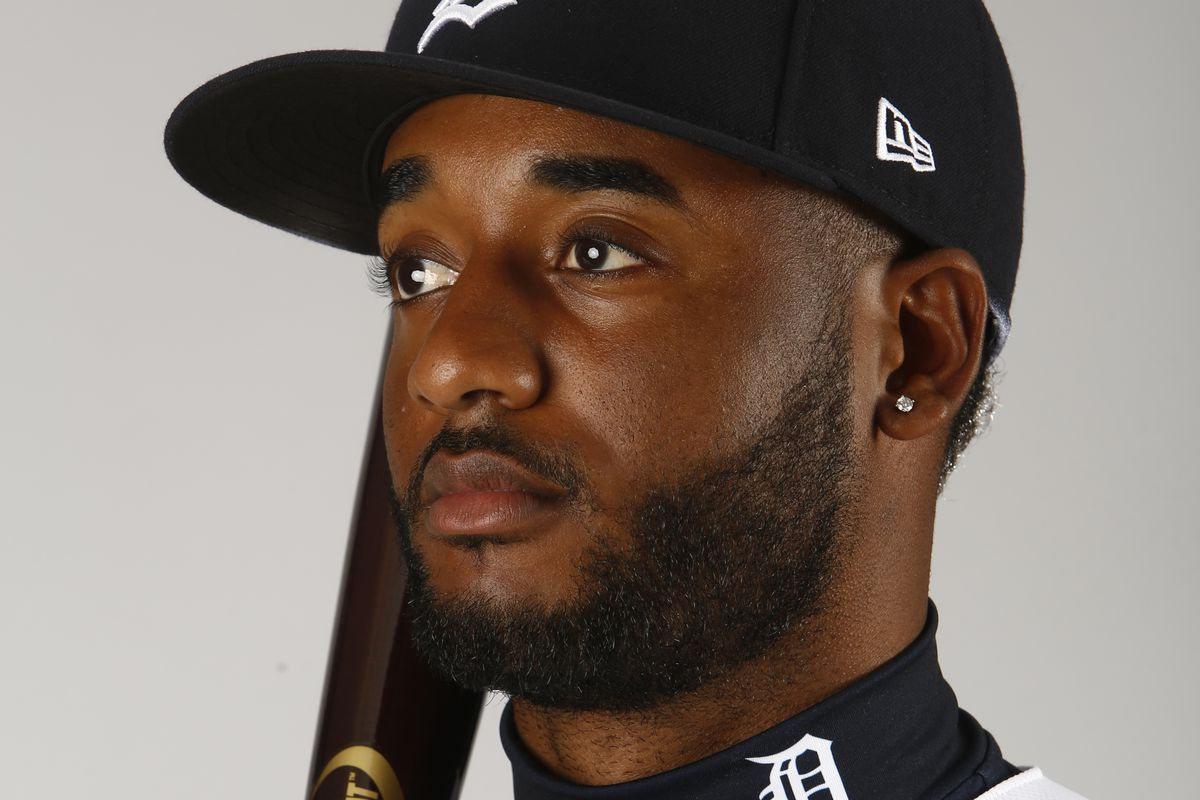Niko Goodrum of the Detroit Tigers poses for a photo during the Tigers' photo day on February 20, 2020 at Joker Marchant Stadium in Lakeland, Florida.