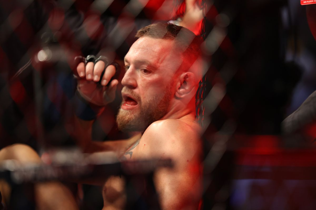 Conor McGregor after his fight with Dustin Poirier at UFC 264.