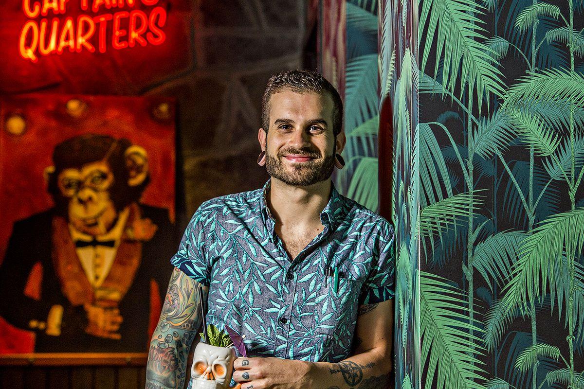Bobby Dudley at The SOS Tiki Bar.