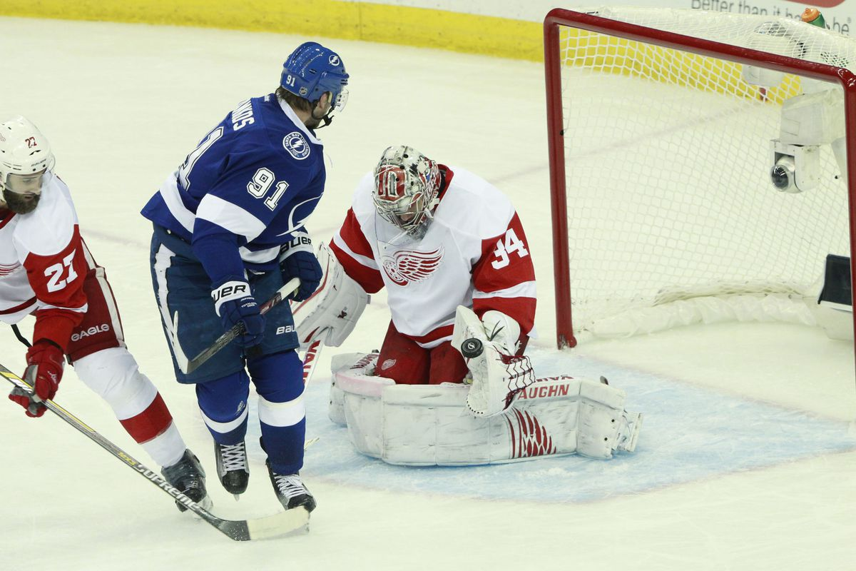 Once again, Steven Stamkos and the Tampa Bay Lightning can't solve Detroit's Petr Mrazek, falling 4-0 Saturday night in Tampa and now facing elimination from the playoffs