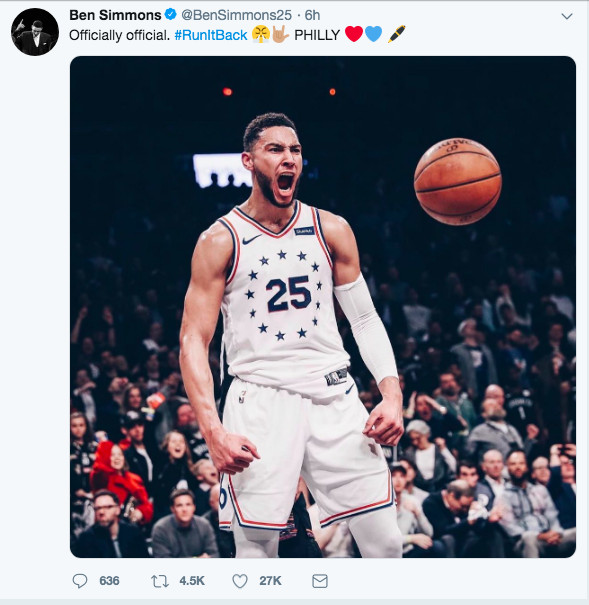 brand new ba816 ee7b4 Ben Simmons won't be a Boomer... for the 2019 Basketball ...