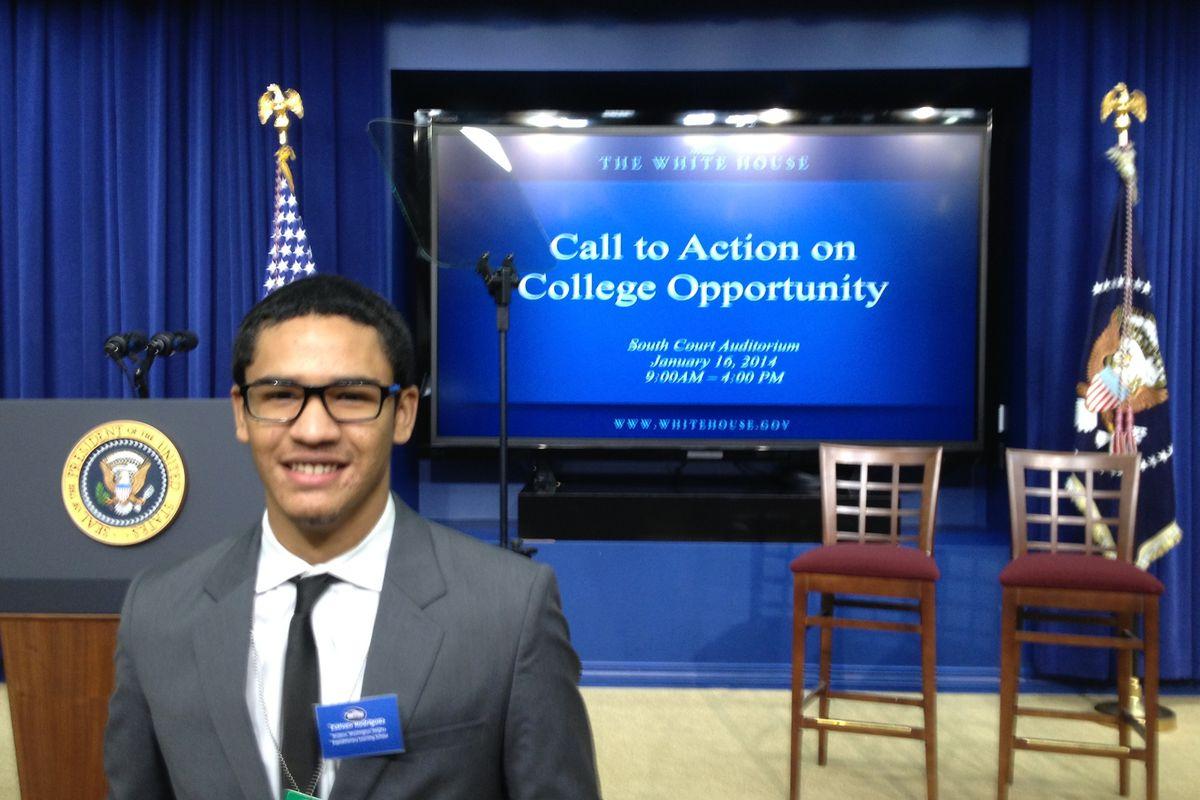 Estevin Rodriguez in Washington, D.C. (Credit: NYC Outward Bound)