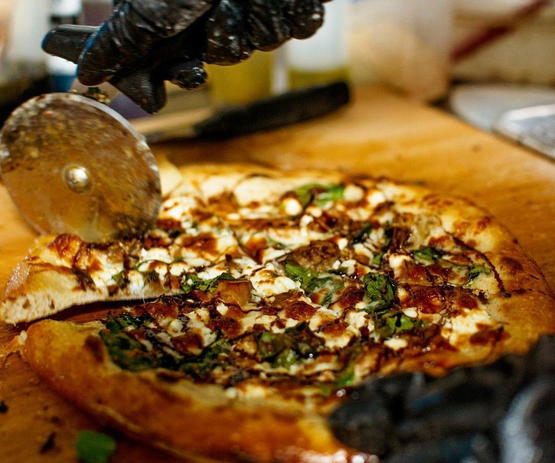 Dolo Pizza is one of the many restaurant pop-ups hosted by Edgewood Avenue bar Our Bar ATL in Atlanta.