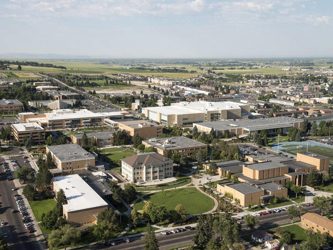 Aerial photo of BYU-Idaho.