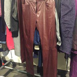 Sample leather pants, $200