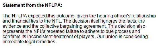 NFLPA Response To AP Appeal