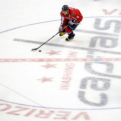 Ovechkin With Puck In Center Ice