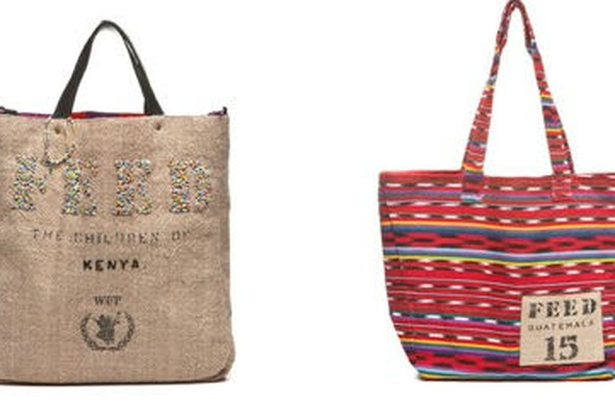 """<a href=""""http://fab.com/sale/7297/product/159330/"""">2 Kenya Bag</a>, $212 (was $250), and <a href=""""http://fab.com/sale/7297/product/159347/"""">Guatemala Tote Red</a>, $42 (was $50)"""