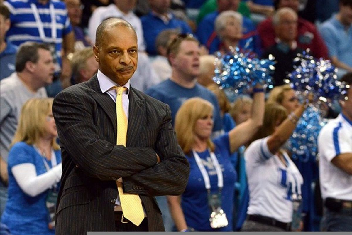 LSU Mens Basketball Head Coach Trent Johnson likely headed to TCU in the near future to take over after Jim Christian left earlier this week for Ohio. (Chuck Cook-US PRESSWIRE)