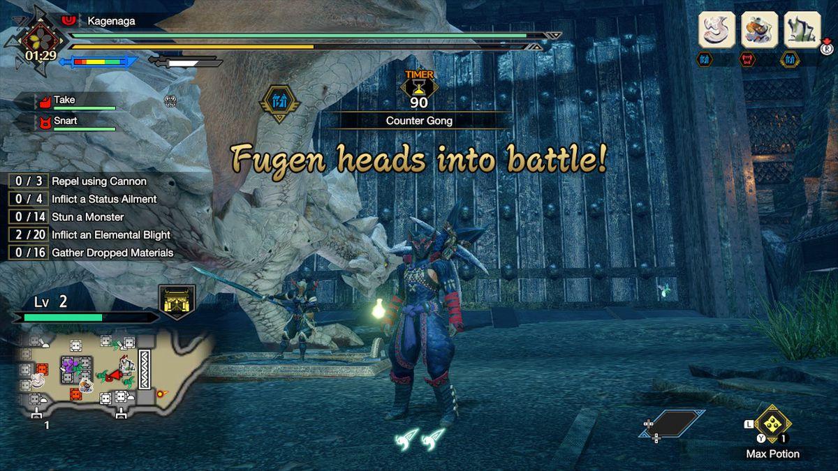 Monster Hunter Rise Rampage Mode Fugen limited summons