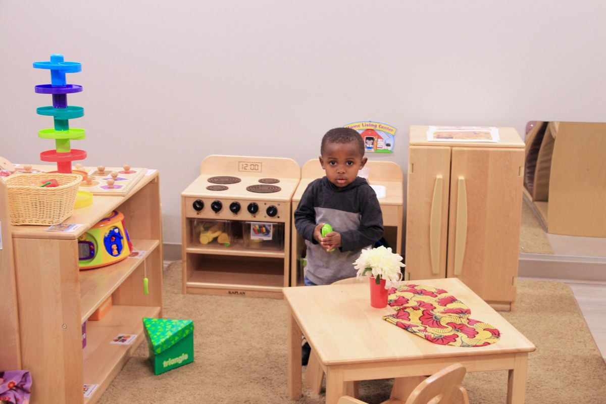 A student plays in a Porter-Leath classroom, Shelby County's largest pre-K provider. County government is looking to add pre-K seats by 2022.