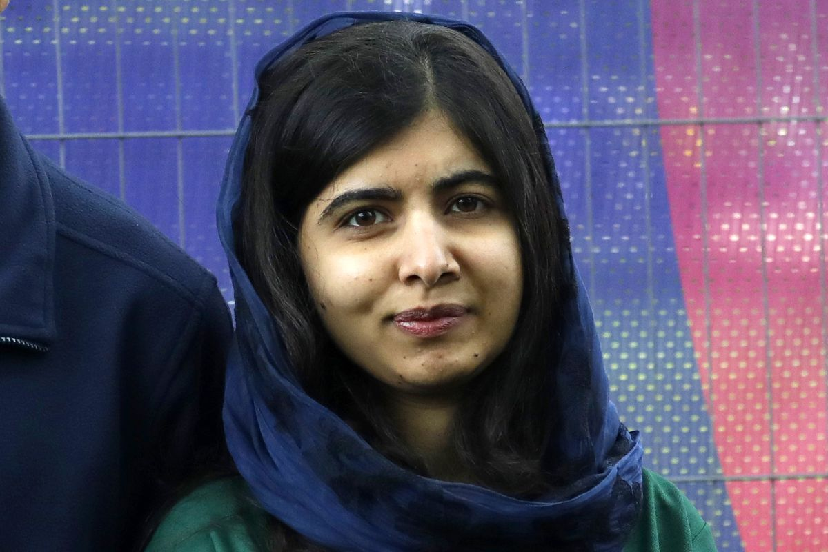 Malala Yousafzai appears at the Cricket World Cup opening party along The Mall in London, in 2019.