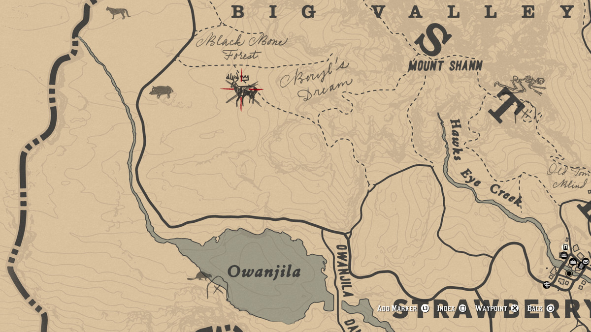 Red Dead Redemption 2Legendary Buck location