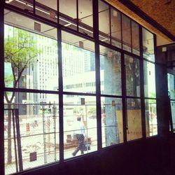 Custom windows overlooking Bay Street