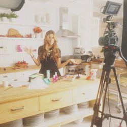 On set shooting our October Sneak Peek video!