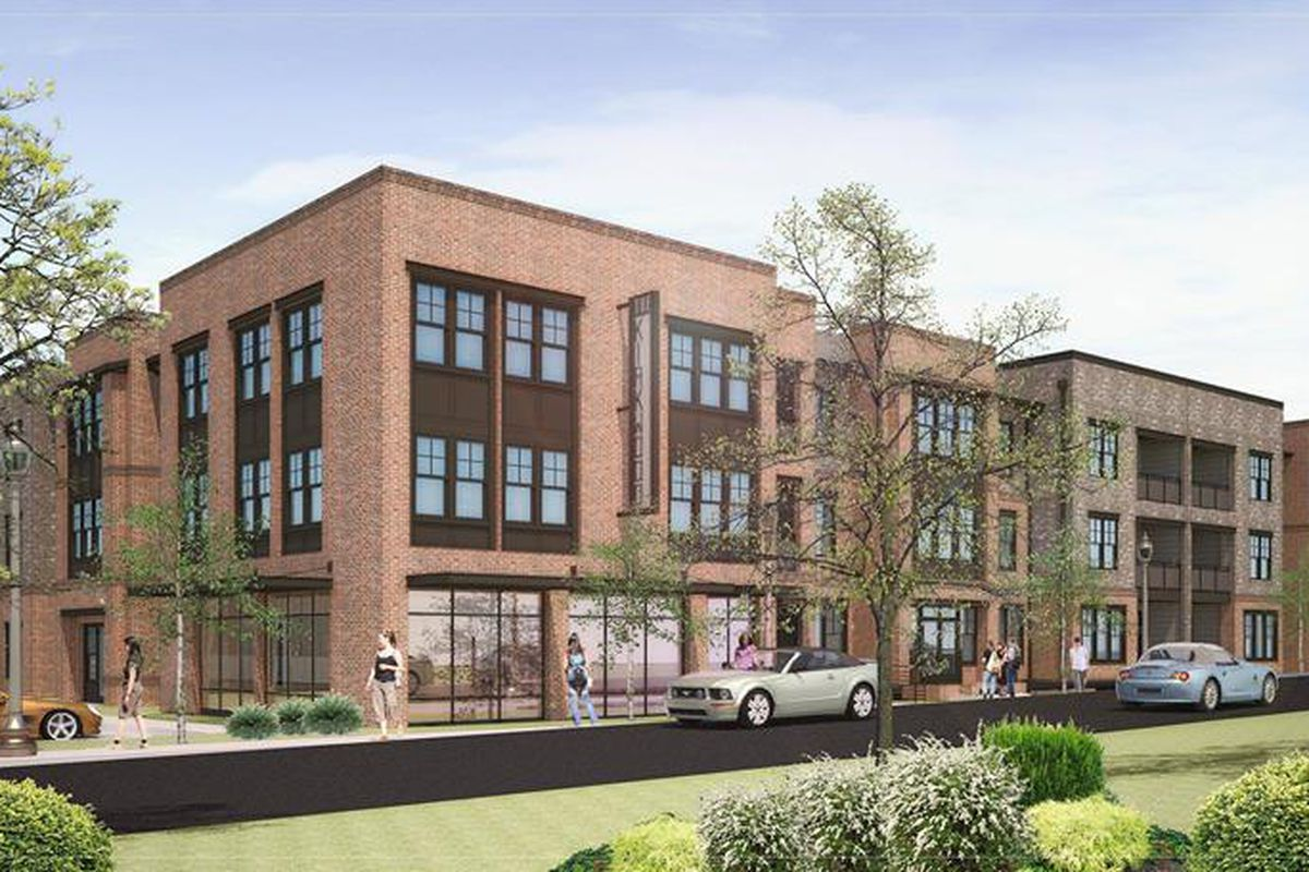 A rendering of forthcoming luxury apartment development The Kirkwood, scheduled for early 2018 delivery, hopes to add vitality to the neighborhood's commercial village.