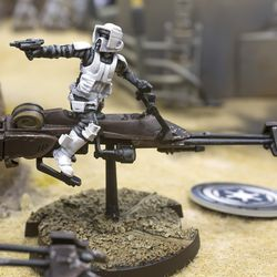 Several fully-painted sets were on display for fans to play at last year's Gen Con in Indianapolis. Basic instructions for how to paint the models to match is included in the learn-to-play booklet.