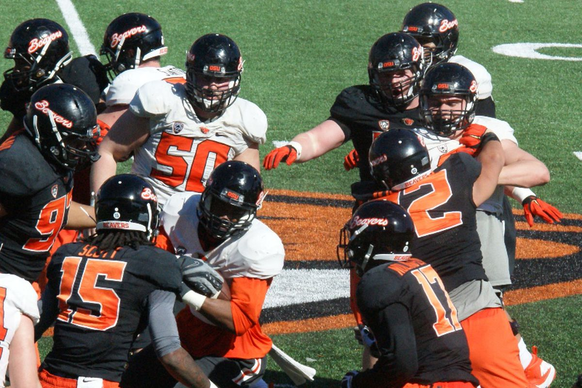 The Oregon St. defense continues to be ahead of the offense in spring practices, even with the addition of the 3 man front.