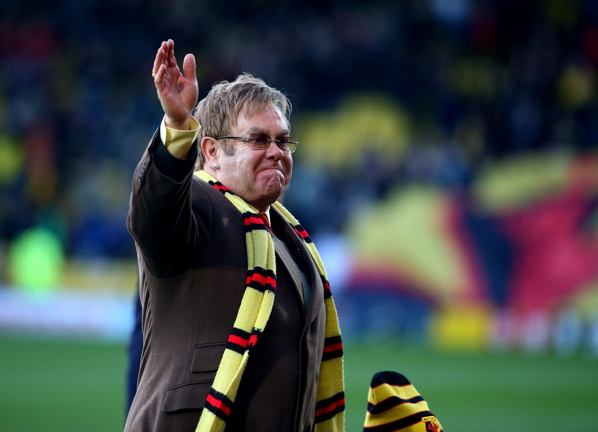 Sir Elton John at Vicarage Road - Watford FC - Premier League