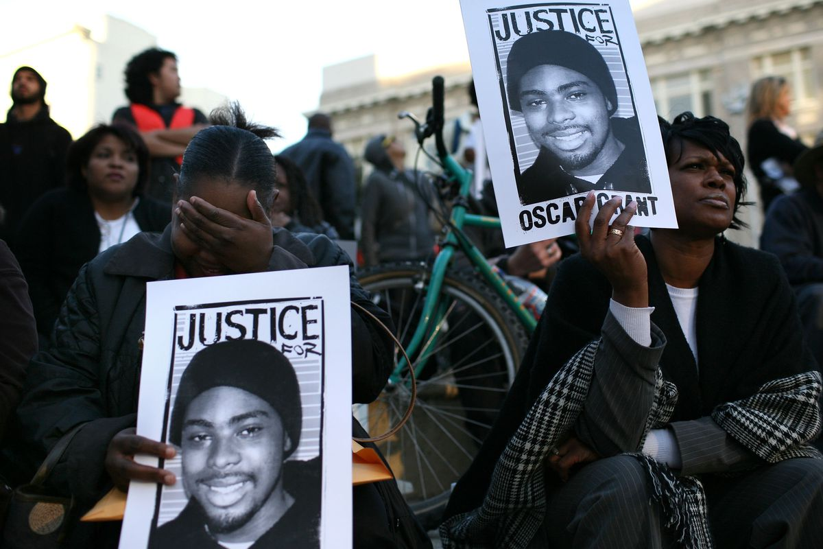 Protestors Continue To Demonstrate Against Police Shooting Of Oscar Grant