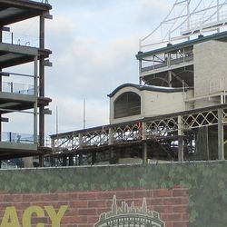 Tue 1/5: lattice steel, NW corner, this was the last steel along the west front to be finished -