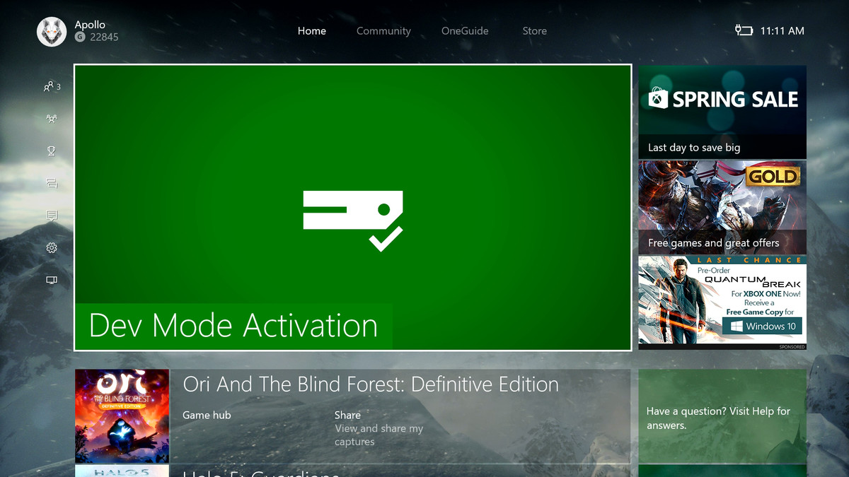 Starting today, anyone can turn their Xbox One into a dev