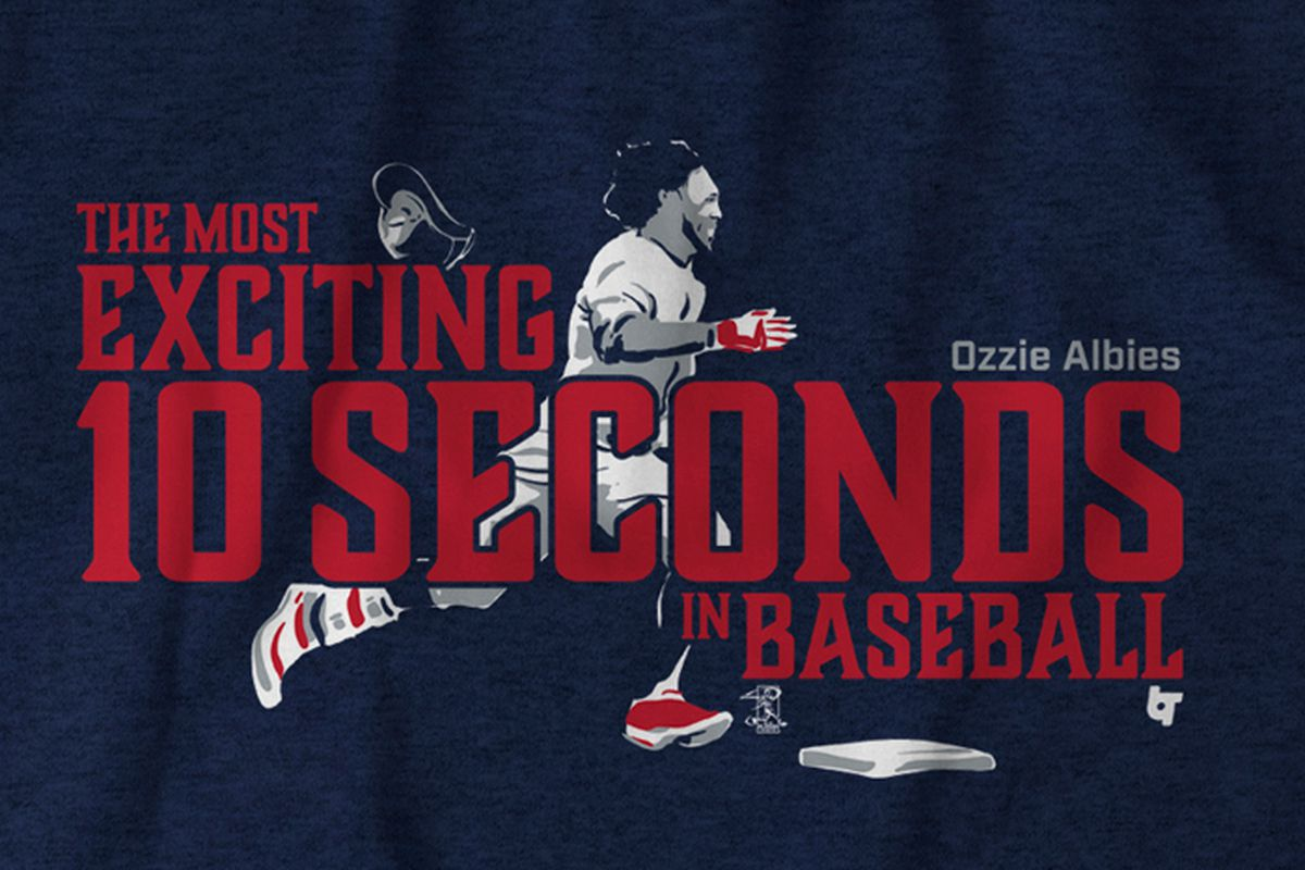 Introducing the Ozzie Albies  Most Exciting 10 Seconds in Baseball shirt  from Breaking T aaf318dda