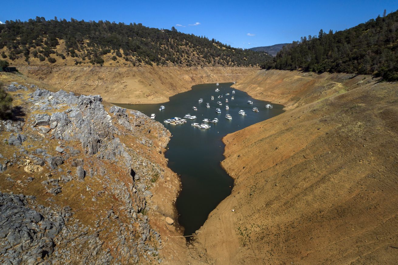 California Drought Conditions at Lake Oroville
