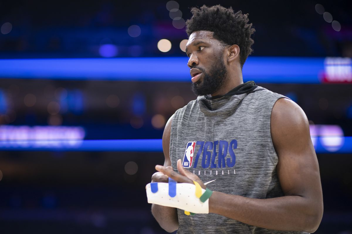 Joel Embiid questionable to return for Sixers vs. Warriors