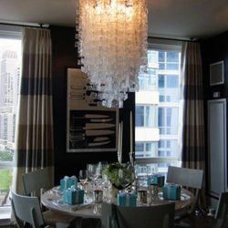 Lambertson Truex's dining table, complete with 14th-floor views and Tiffany boxes