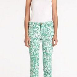 """<a href=""""http://www.dvf.com/The-Classic-Skinny/886115288058,default,pd.html?start=19&preselectsize=no&cgid=pants-bottoms-fashion""""> DVF and Current/Elliot floral print jean</a>, $180.60 dvf.com"""