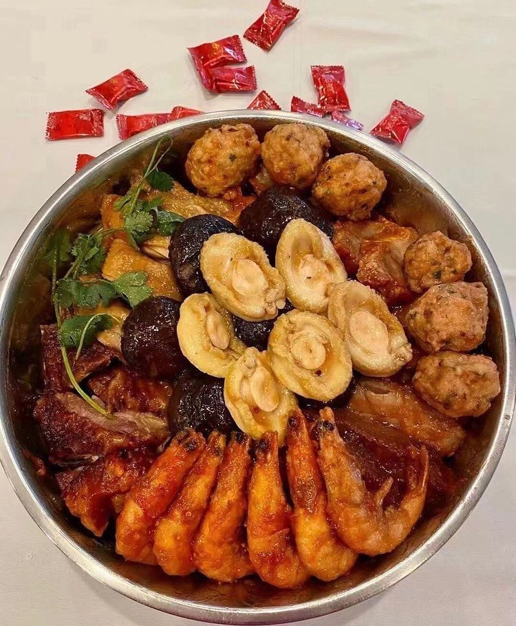 a traditional southern Chinese festive meal, called poon choi
