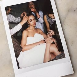 FKA Twigs being pampered from head to toe, literally.