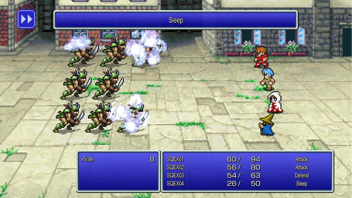 A fight in Final Fantasy 1
