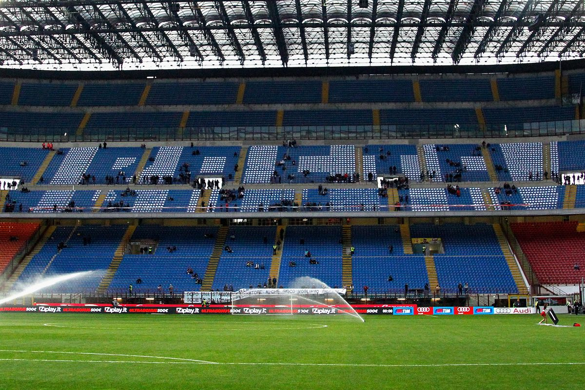 """Curva Sud message to the team today: """"BASTA""""."""