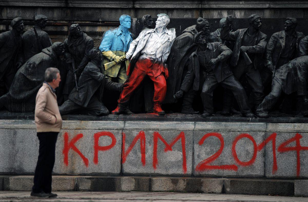 Crimea painted memorial