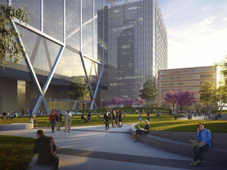 A rendering of plans for a development by Union Station approved Wednesday.   Provided
