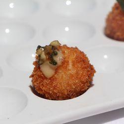 Shrimp fritter with okra